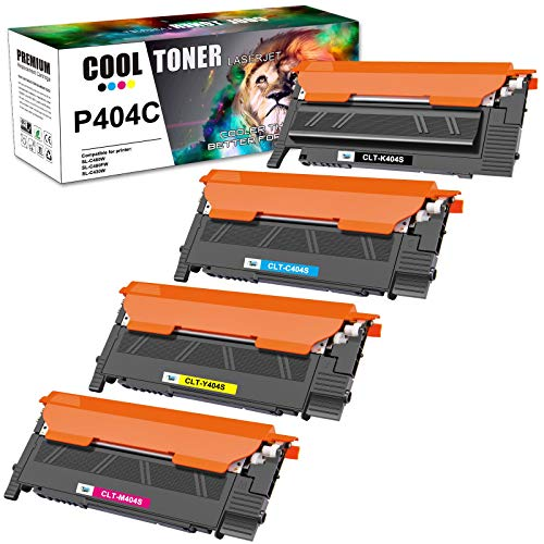 Cool Toner Cartouche de toner compatible pour Samsung CLT-P404C CLT-K404S CLT-C404S CLT-M404S CLT-Y404S Samsung Xpress SL C480W C483W C480FW C480 C430W C480FN C430 (Noir,Cyan,Jaune,Magenta,pack de 4)