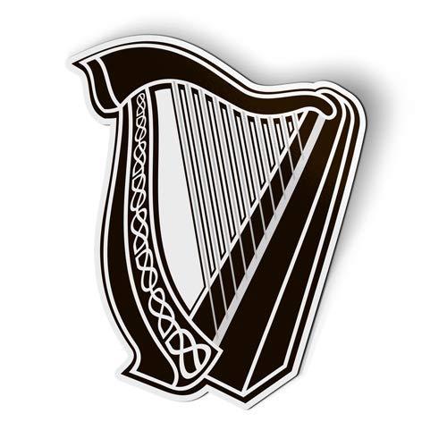 AK Wall Art Celtic Harp Lyre - Magnet - Car Fridge Locker - Select Size
