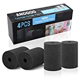 Cup Turner Foam for Crafts Tumbler, 4-Pack Flexible Foam Cup Turner Inserts Accessories fit 10 Oz to 40 Oz Tumbler for 1/2 Inch PVC Pipe, Perfect for DIY Glitter Epoxy Tumblers - Black