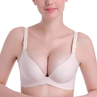 fc4074f9c9 Easytoy Women Sexy Plus Size Seamless Push Up Unpadded Bra Wirefree Intimate