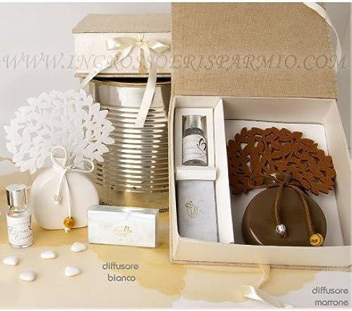Dekorativer Lufterfrischer, Modell Lebensbaum in Braun, geeignet als Gastgeschenk für Feiern kit 12 confezioni no confezione