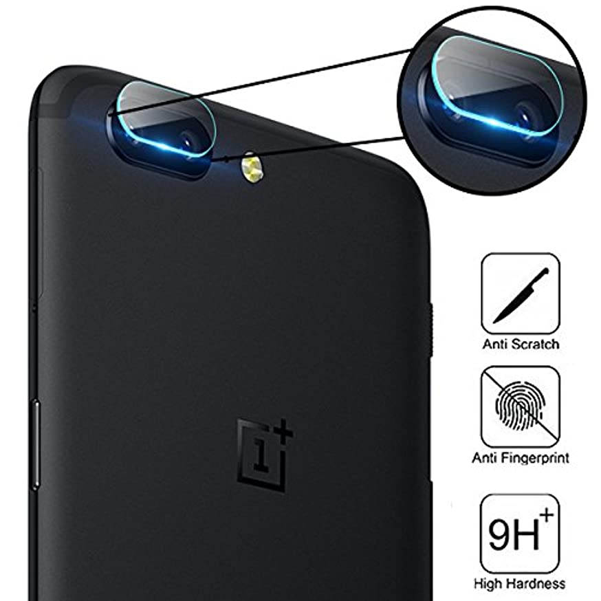 BisLinks for OnePlus 5 and 5T Tempered Glass Back Rear Camera Lens 9H Hardness Protector Film Cover Ultra Clear Anti Scratch A5000 A5010