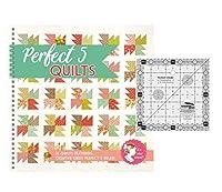 パーフェクト5キルトセット - Creative Grids パーフェクト5定規と完璧な5キルトパターンブック