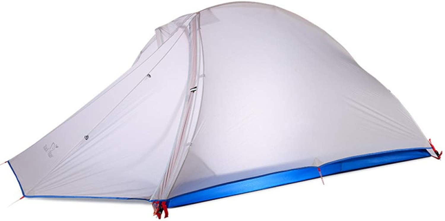 Lightweight Cobra Tent,Double Layer Unisex Outdoor Portable Waterproof Shade Backpacking Tent 2 Person,Grey
