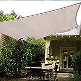 HAIKUS Toldo Vela Cuadrado 3x3 m, Vela de Sombra HDPE, Transpirable, Resistente y 95% Protección Rayos UV para Exterior, Jardín, Terrazas (Crema)
