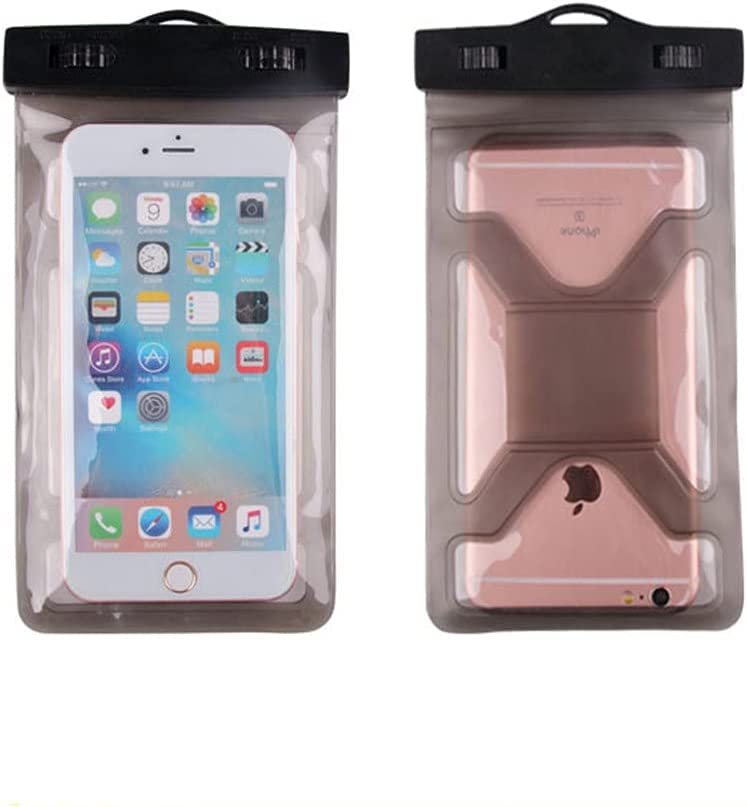Gefag Mobile Phone Dry Bag with Arm Strap and Tether, Swimming Mobile Phone Waterproof Bag, Supporting Mobile Phone with Maximum Size of 7 Inches (Coffee)