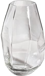 Rayher 56929000 Vase en verre facetté 10x 10x 18cm 1000ml