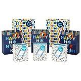 Hallmark Hanukkah Gift Bag Assortment (8 Gift Bags: 3 Small 6