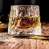 DAWNTREES Juego de 1 vaso de whisky, con forma de cuña, vasos de degustación antigua, caja de regalo divertida para hombre (hielo)