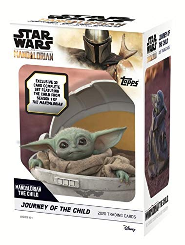 Topps The Mandalorian: Journey of The Child Star Wars Trading Cards Blaster Box- Featuring Baby Yoda | Includes Illustrated Cards & Parallels