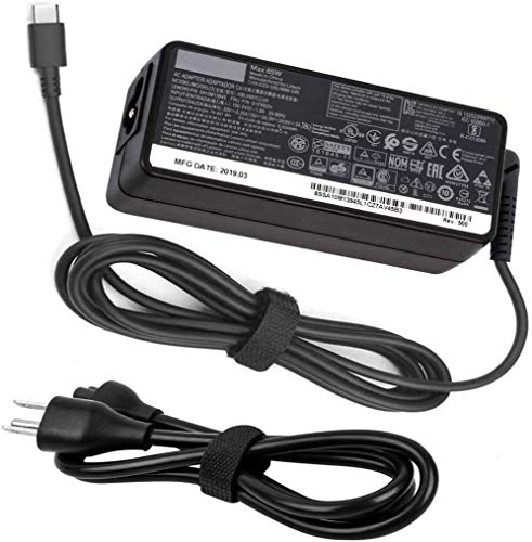New 65W USB C Charger for Lenovo, Type C Laptop Power Adapter Supply, for Lenovo Yoga C930, S730, 920, 730, ThinkPad X1 Carbon 5th, 6th, ThinkPad T480, T480S, P52S, P51S, L380, L480, E480.