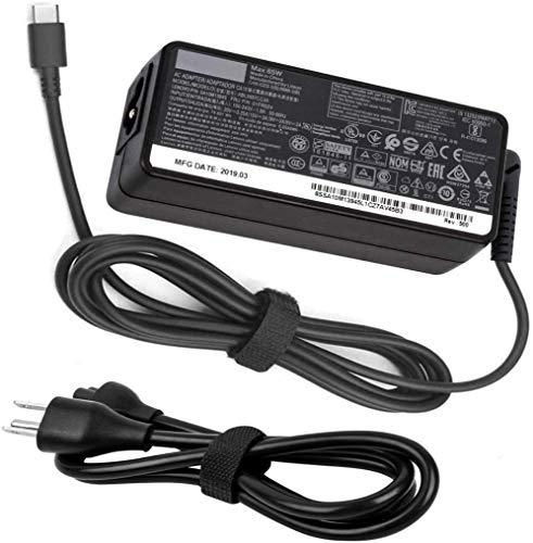 65W USB C AC Charger for Lenovo Thinkpad E580 E585 E590 E590S E595 20KS 20KV 20NB 65W Type C Laptop Power Supply Adapter Cord