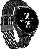 Smart Watch Männer und Frauen Smart Sports Uhr im Freien, mit wasserdichtem Touchscreen Schlaf und Blutdruck Sauerstoff Überwachung Kalorien / Zähler, Fitness-Tracker trainieren-Schwarzer Gürtel