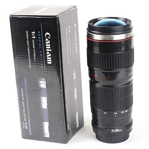 KOFUN Camera Lens Gevormde Thermos, Draagbare Camera Lens Gevormde Thermos Ef 70-200Mm Drink Mok Koffie Cup 400Ml