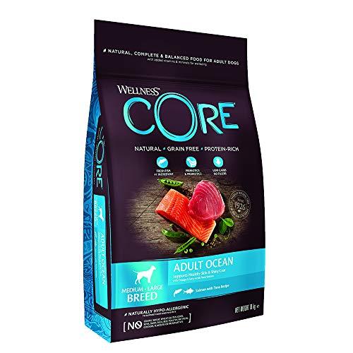 Wellness CORE Ocean / Hundefutter Trocken / Getreidefrei / Hoher Fleischanteil / Lachs mit Thunfisch, 10 kg