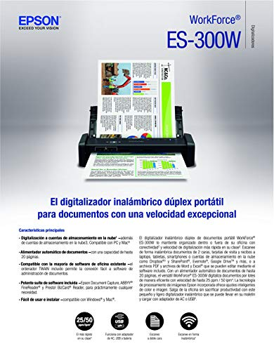 Epson Workforce ES-300W Wireless Color Portable Document Scanner with ADF for PC and Mac, Sheet-fed and Duplex Scanning Photo #8