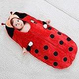 B/H Carrito de Bebé Manta,Edredón de Invierno recién Nacido, Saco de Dormir Grueso para bebé-Ladybug_80 / 48