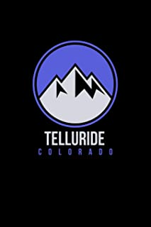 Telluride: Colorado Notebook With Lined Wide Ruled White Paper For Work, Home or School. Blank Notepad Journal For Skiing And Snowboarding Fans.