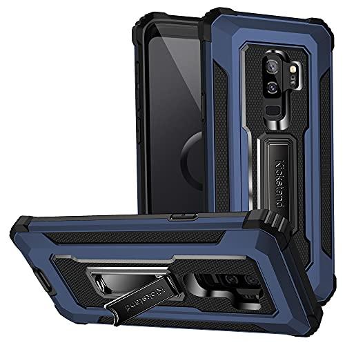 Lavender1 Funda para Samsung Galaxy S9 Plus, carcasa de TPU suave, soporte de silicona suave, antigolpes, antiarañazos, calidad militar, protección contra caídas, para Samsung S9 Plus (azul)