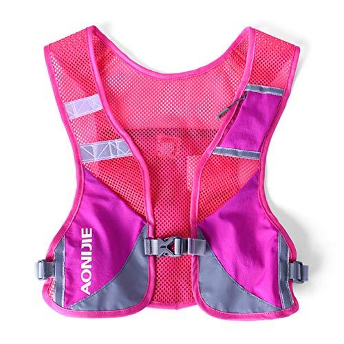 Aonijie Unisex Running Chaleco de Hidratación Ultraligero Mochilas Trail Ideal Para Senderismo, Maratón, Escalada y Ciclismo (Hot Pink)