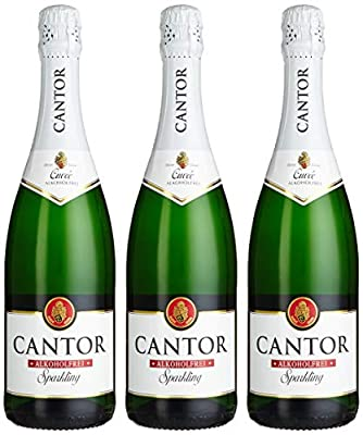 Cantor Cuvée Alkoholfrei Sparkling Sekt (3 x 0.75 l)