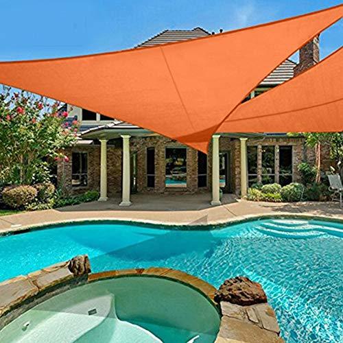 3m x 3m x 3m Sombrilla Vela Resistente al Agua Jardín al Aire Libre Patio Fiesta Protector Solar Toldo Toldo Bloque UV Triángulo Sombrilla Vela Toldo Toldo para césped Pérgola Decking(Naranja)
