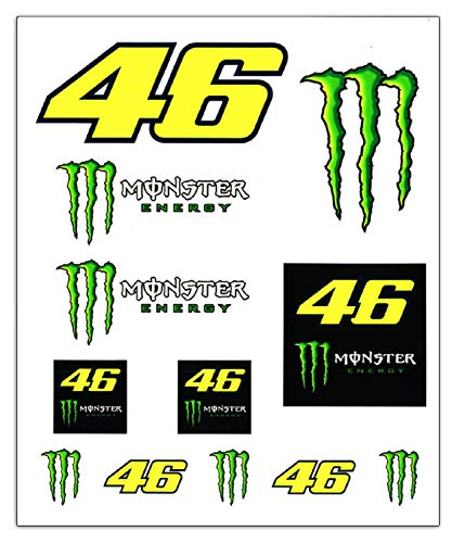 Valentino Rossi Colección Monster Dual Stickers, Unisex, Mu