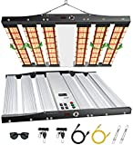 SONLIPO Upgrade SPC4500 LED Grow Light for Indoor Plants, 450W Growing Lamps 5x5 ft Coverage, 3 Type of Full Spectrum, Dimmer, Daisy Chain, Time Reservation & Timer with 2196 Samsung LEDs,27.6x27.6'