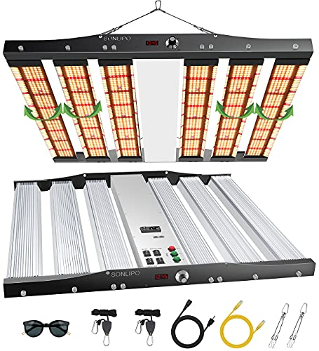 SONLIPO SPC4500 LED Grow Lights, 3 Type of Full Spectrum Grow Light 450W, 5x5 ft Coverage with 2196 Samsung LEDs,Daisy Chain Dimmable Timer & Time Reservation Veg Bloom Growing Lamps for Indoor Plants