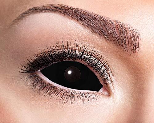 Zoelibat Eyecatcher Motivlinsen – Sclera Black Eye s03 - farbige 6-Monats-Kontaktlinsen
