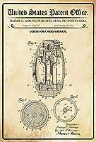 手榴弾のデザイン、ブリキのサインヴィンテージ面白い生き物鉄の絵画金属板パーソナリティノベルティ