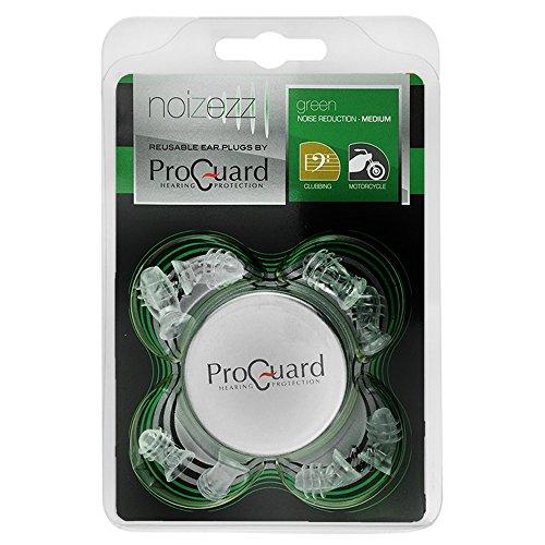 Proguard Noizezz Universele oordopjes, gehoorbescherming op reis, bij muziek, motorsport en in de industrie 18dB - Green Filter