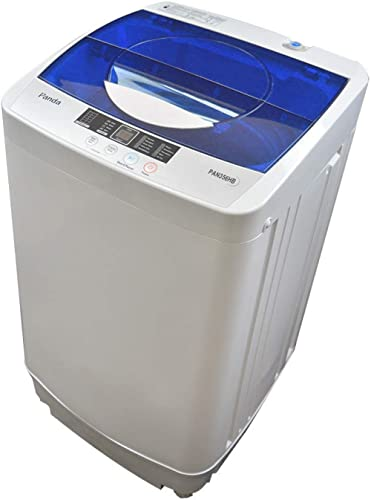 Panda Portable Washing Machine, 10lbs Capacity, 10 Wash Programs, 2 built in rollers/casters, Compact Top Load Cloth ...