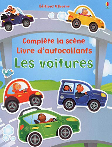 Les voitures - Complète la scène - Livre dautocollants