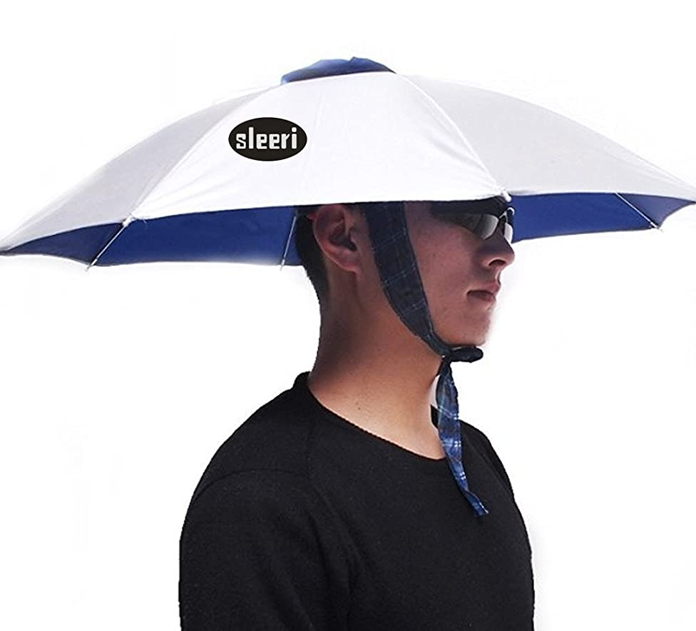Outdoor Multifunction Foldable Sun Rain Umbrella Hat Cap for Fishing Camping