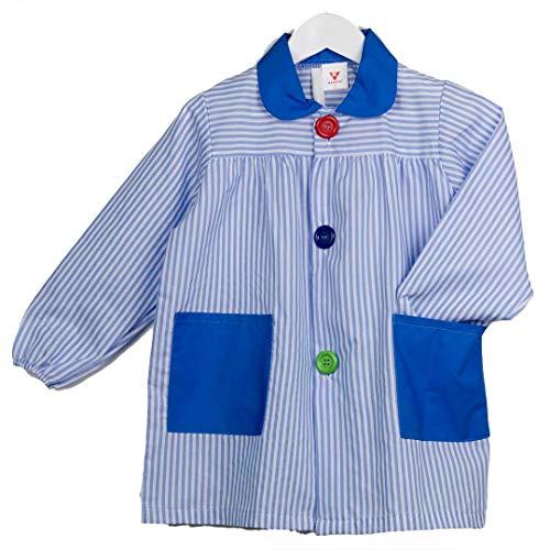 KLOTTZ - Baby Streifen Bademantel für Mädchen, 5323-RAYAS-CELESTE-3, Blau, 5323-RAYAS-CELESTE-3 3