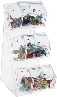 Avà srl Boîte à Bonbons en Acrylique transparentà 3 Compartiments - Dimensions du Compartiment : 10.5x13x H10 cm - Dimensi...