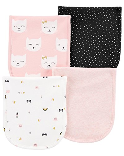 Carter's Baby Girls 4-Pack Burp Cloths