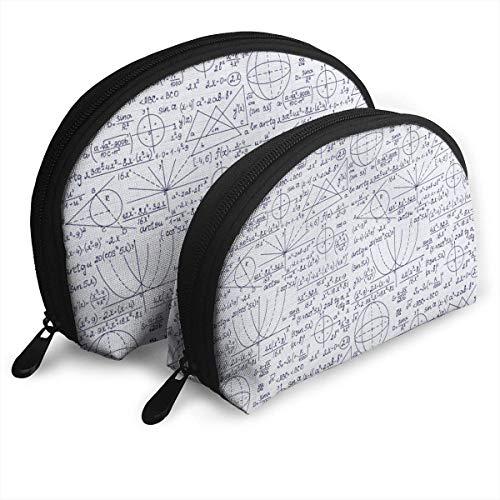 Student Math Geometry Science Tragbare Taschen Kupplungsbeutel Münzgeldbörse Kosmetische Reisetasche One-Big und One-S