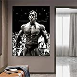 JHGJHK Pintura artística Culturismo músculo Abdominal Lienzo Pintura Gimnasio Ejercicio Cartel e impresión Pintura decoración de Pared Pintura al óleo (Imagen 1)