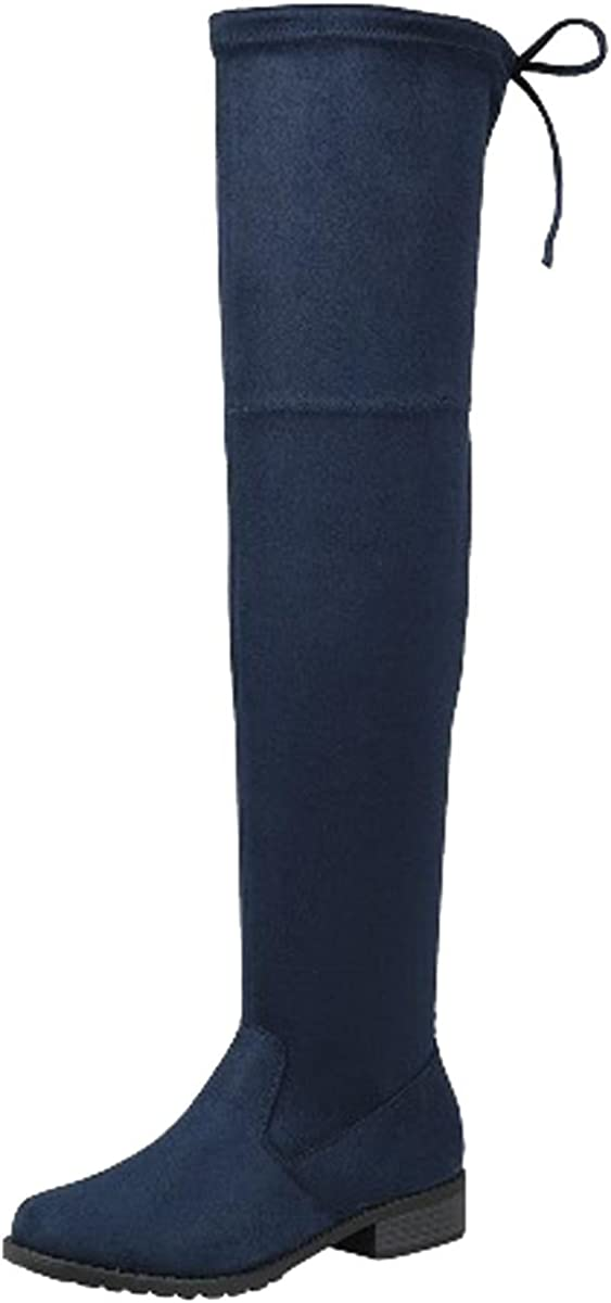 Forever Link 正規店 Women's Over 激安セール The Flat Knee Thigh High Boot