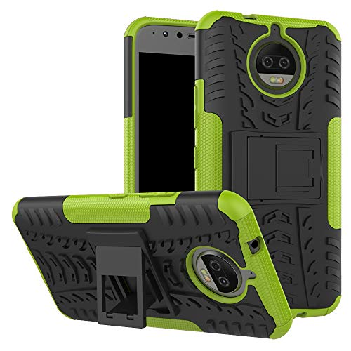 betterfon | Outdoor Handy Tasche Hybrid Hülle Schutz Hülle Panzer TPU Silikon Hard Cover Bumper für Lenovo Motorola Moto G5s Plus Grün