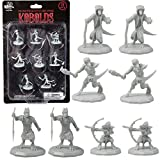 8 Unpainted Fantasy Kobold Mini Figures- All Unique Designs- 1' Hex-Sized Compatible with DND Dungeons and Dragons & Pathfinder and All RPG Tabletop Games