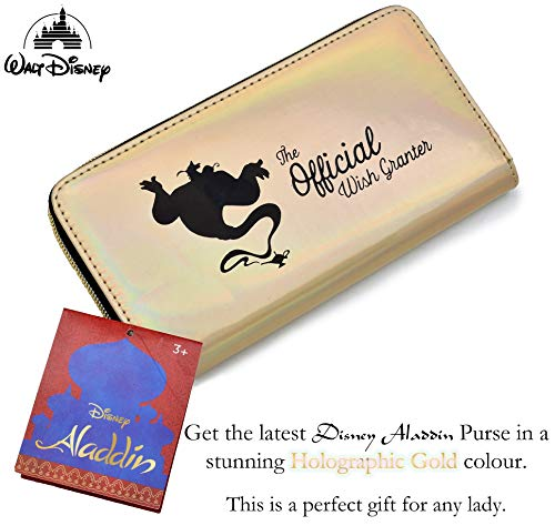 Disney Ladies Purse Wallet Latest Aladdin Movie Gifts and Accessories, Perfect Gift for Women and Girls
