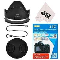 JJC 5in1 Canon PowerShot SX70 HS SX60 HS アクセサリーキット LH-DC100 互換用 レンズフード + 67mm フィルターアタブター + 液晶保護フィルム + レンズキャップ + フックキーパー + レンズクロス