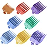8 Color Clipper Guards Guides Compatible with Most Wahl Clippers,Hair Cutting Guides Combs #3170-400- 1/8 Inch to 1 Inch
