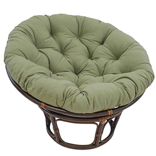 "Blazing Needles Solid Twill Papasan Chair Cushion, 52"" x 6"" x 52"", Sage"