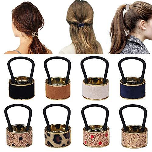 8 pezzi nuovo supporto coda di cavallo per donne ragazze, fermagli per capelli con fibbia a coda di cavallo in plastica avvolgere corda moda accessori per capelli elastici regalo