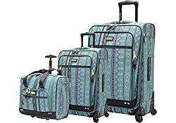 commercial Steve Madden Designer Suitcase Collection – Soft Side 3 Piece Expandable Lightweight Spinner… anne klein luggage