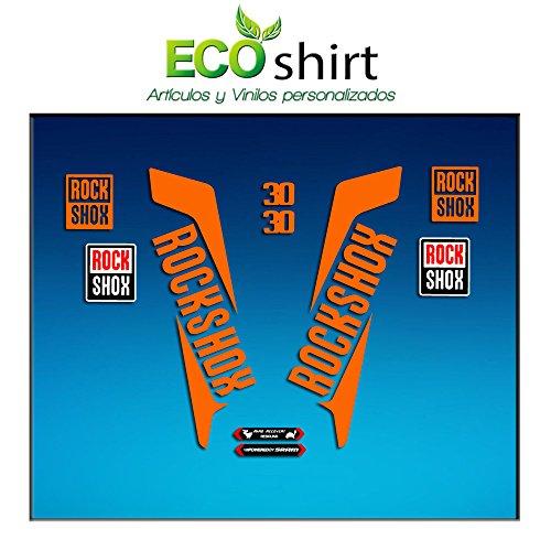 Ecoshirt DI-JEV3-57OP Aufkleber Gabel Fork Rockshox Xc30 2016 Am34 Stickers Aufkleber Decals Adesivi Bike BTT MTB Cycle Orange 29